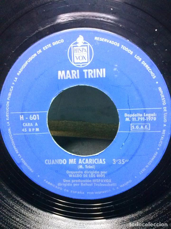 Discos de vinilo: MARI TRINICUANDO ME ACARICIAS - Foto 2 - 157812554
