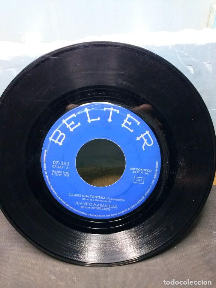 JUANITO MARAVILLASCOMETE UNA TONTERIA (Música - Discos de Vinilo - Maxi Singles - Solistas Españoles de los 50 y 60)