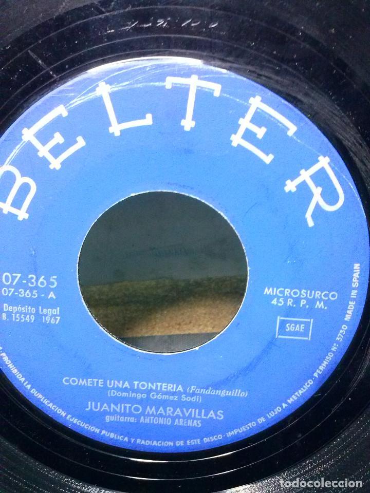 Discos de vinilo: JUANITO MARAVILLASCOMETE UNA TONTERIA - Foto 2 - 157813150