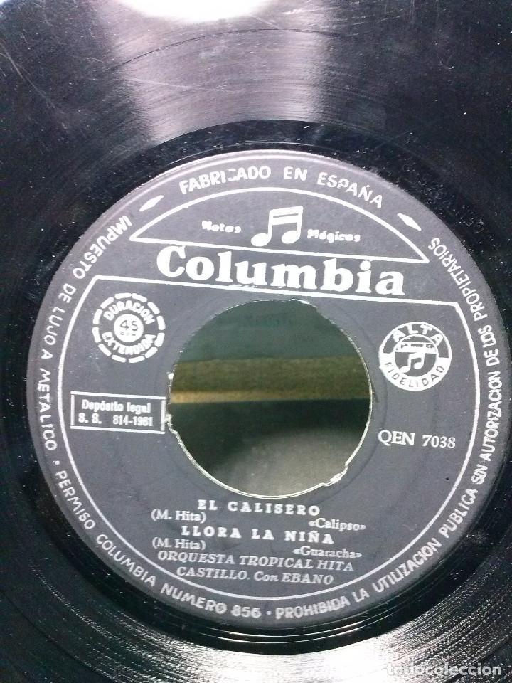 Discos de vinilo: ORQUESTA TROPICAL HITA CASTILLOEL CALISERO - LLORA LA NIEÑA - Foto 2 - 157818182