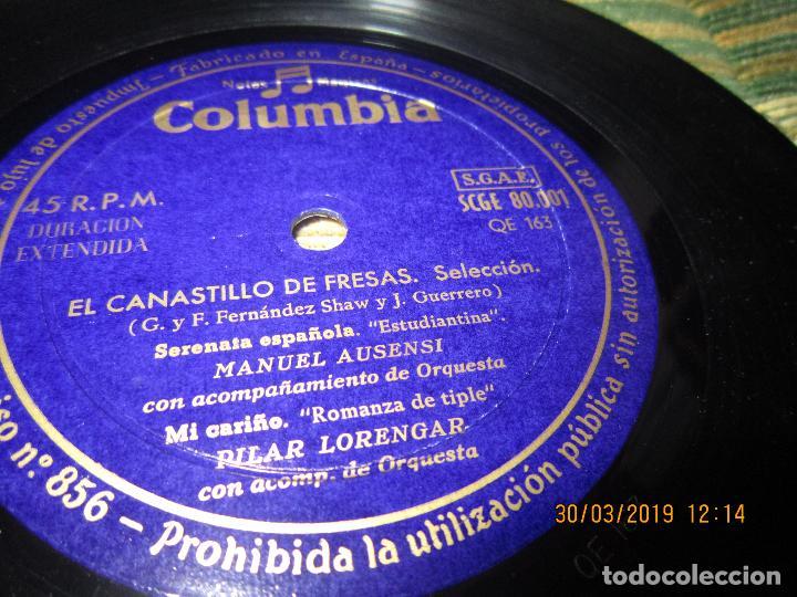Discos de vinilo: PILAR LORENGAR - SELECCION DE ZARZUELAS Nº 1 EP - ORIGINAL ESPAÑOL - COLUMBIA 1953 MONO - Foto 5 - 157821274