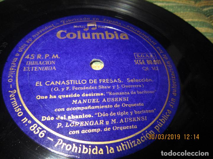 Discos de vinilo: PILAR LORENGAR - SELECCION DE ZARZUELAS Nº 1 EP - ORIGINAL ESPAÑOL - COLUMBIA 1953 MONO - Foto 6 - 157821274
