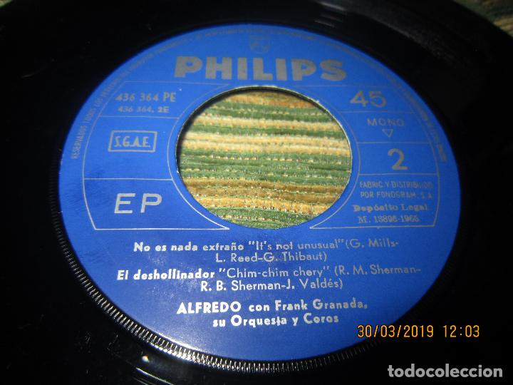 Discos de vinilo: ALFREDO - NO LE DIGAS NADA EP - ORIGINAL ESPAÑOL - PHILIPS RECORDS 1965 - MONOAURAL - - Foto 6 - 157825098