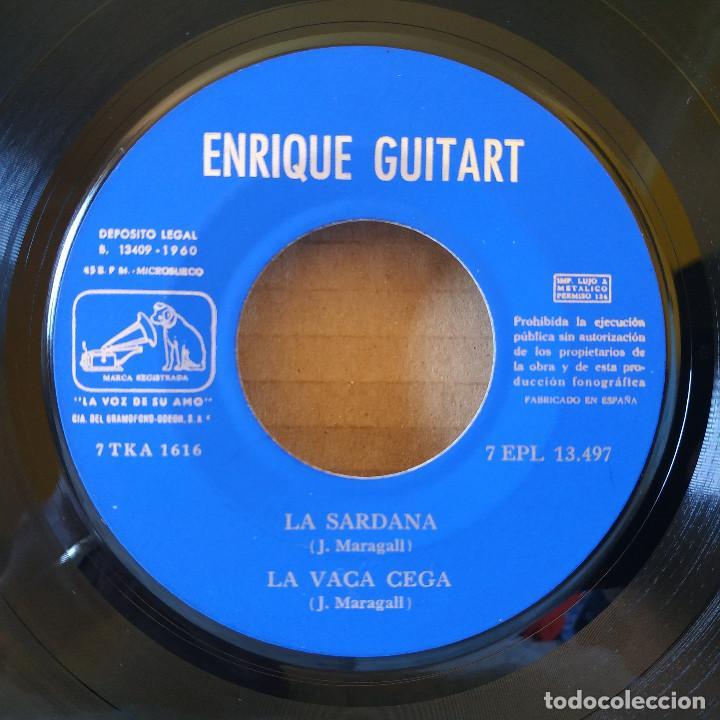 Discos de vinilo: ENRIQUE GUITART - LA SARDANA / LA VACA CEGA / TERRA BAIXA / EL MISTIC - EP SPAIN DE 1960 VG++ / NM - Foto 3 - 157832298