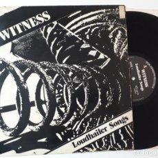 Discos de vinilo: MAXI DISCO VINILO 12'' A WITNESS – LOUDHAILER SONGS DE 1985. Lote 157842086