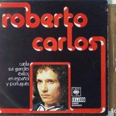Discos de vinilo: *** ROBERTO CARLOS - CANTA SUS GRANDES ÉXITOS EN ESPAÑOL Y PORTUGUÉS - LP AÑO1974 - LEER DESCRIPCIÓN. Lote 157850942