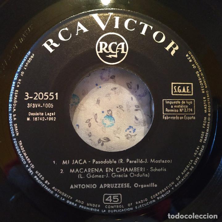 Discos de vinilo: ANTONIO APRUZZESE - MI JACA / MACARENA EN CHAMBERI / GALLITO / SOLO TU, SEVILLA - EP SPAIN 1962 EX - Foto 3 - 157883350