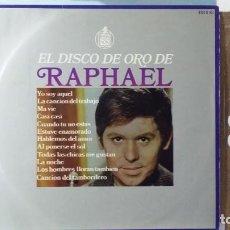 Discos de vinilo: *** RAPHAEL - EL DISCO DE ORO DE RAPHAEL - LP 1968 - LEER DESCRIPCIÓN. Lote 157887682