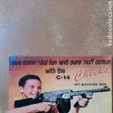 Discos de vinilo: THE CHEEKS–HAVE SOME REAL FUN AND SURE 'NUFF ACTION WITH THE C-14 HIT MACHINE GUN - LP VINILO. Lote 157912574