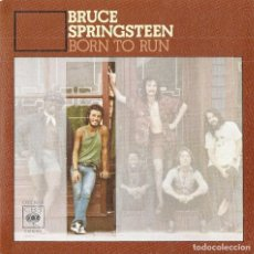 Discos de vinilo: BRUCE SPRINGSTEEN: BORN TO RUN / MEETING ACROSS THE RIVER. REEDICIÓN ESPAÑA DE 1985. Lote 236503260