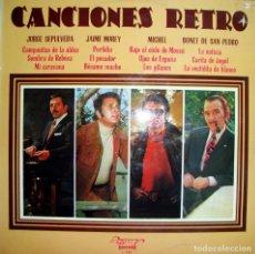 Disques de vinyle: CANCIONES RETRO. JAIME MOREY, MICHEL, BONET DE SAN PEDRO, JORGE SEPULVEDA.. Lote 157933366