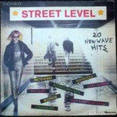 Discos de vinilo: VVAA. STREET LEVEL, 20 NEW WAVE HITS. RONCO UK 1980 LP SEX PISTOLS, BUZZCOCKS, GENERATION X, DICKIES. Lote 157939042