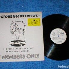 Discos de vinilo: DJ MEMBERS ONLY LP OCTOBER 86 PREVIEWS ARETHA FRANKLIN HEAVEN 17 JANET JACKSON MARC ALMOND OCTAVIA. Lote 159899708