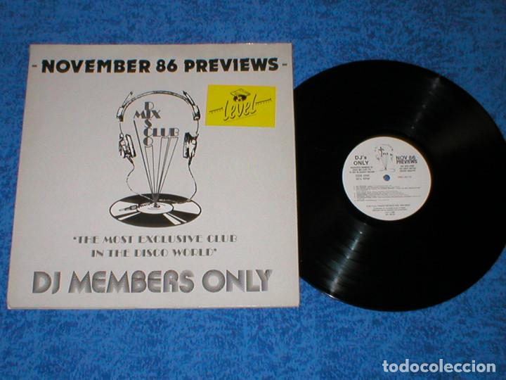 DJ MEMBERS ONLY LP NOVEMBER 86 PREVIEWS ART OF NOISE DEBBIE HARRY MADNESS SLY STONE ARETHA FRANKLIN (Música - Discos - LP Vinilo - Disco y Dance)