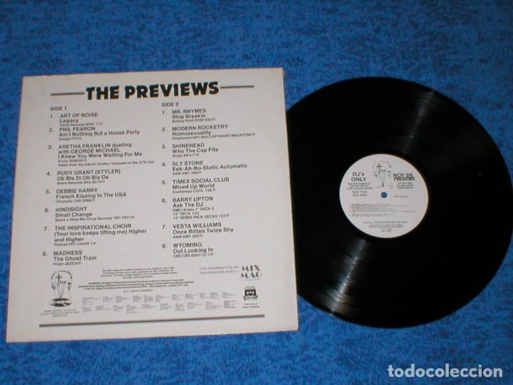 Discos de vinilo: DJ MEMBERS ONLY LP NOVEMBER 86 PREVIEWS ART OF NOISE DEBBIE HARRY MADNESS SLY STONE ARETHA FRANKLIN - Foto 2 - 159899866