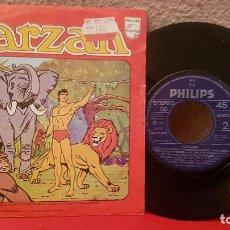 Discos de vinilo: ANTIGUO DISCO DE VINILO TARZAN PHILIPS 1979 EDGAR RICE SINGLE. Lote 157978722