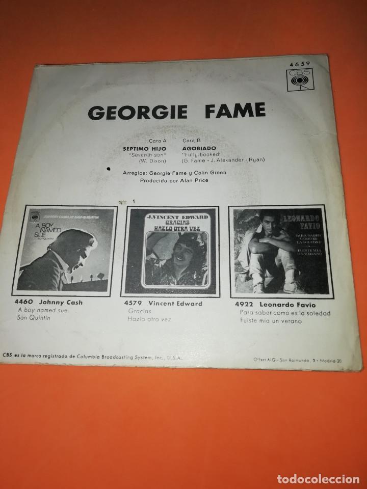 Discos de vinilo: GEORGIE FAME / SEPTIMO HIJO / AGOBIADO (SINGLE 1970) CBS - Foto 2 - 158017710
