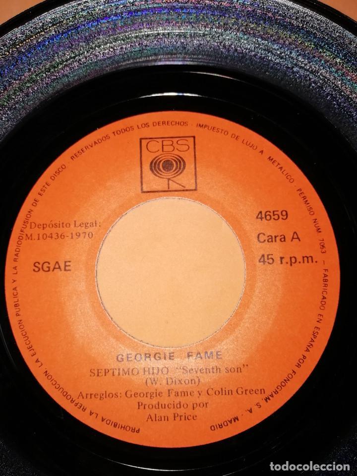 Discos de vinilo: GEORGIE FAME / SEPTIMO HIJO / AGOBIADO (SINGLE 1970) CBS - Foto 4 - 158017710