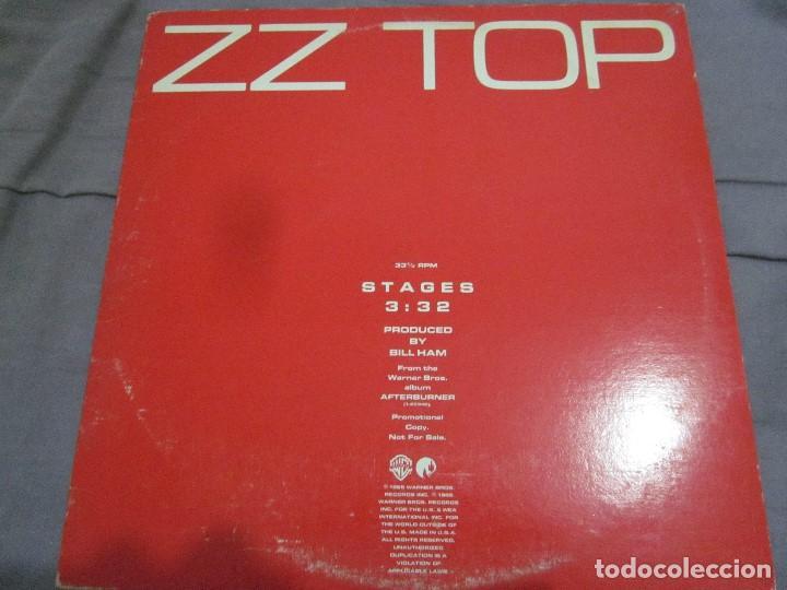 ZZ TOP - STAGES - MAXI PROMOCIONAL EDICION USA DEL AÑO 1985. (Música - Discos de Vinilo - Maxi Singles - Heavy - Metal)
