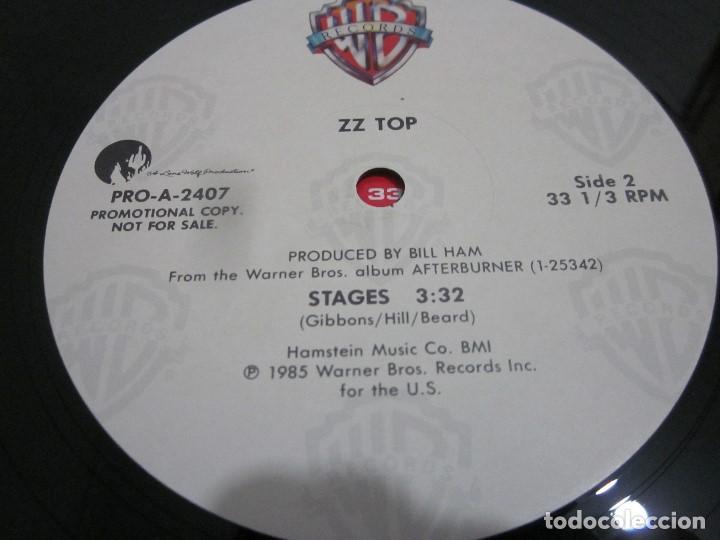 Discos de vinilo: ZZ TOP - STAGES - MAXI PROMOCIONAL EDICION USA DEL AÑO 1985. - Foto 3 - 158018202