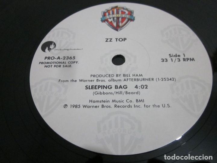 Discos de vinilo: ZZ TOP - SLEEPING BAG - MAXI PROMOCIONAL EDICION USA DEL AÑO 1985. - Foto 3 - 158018382