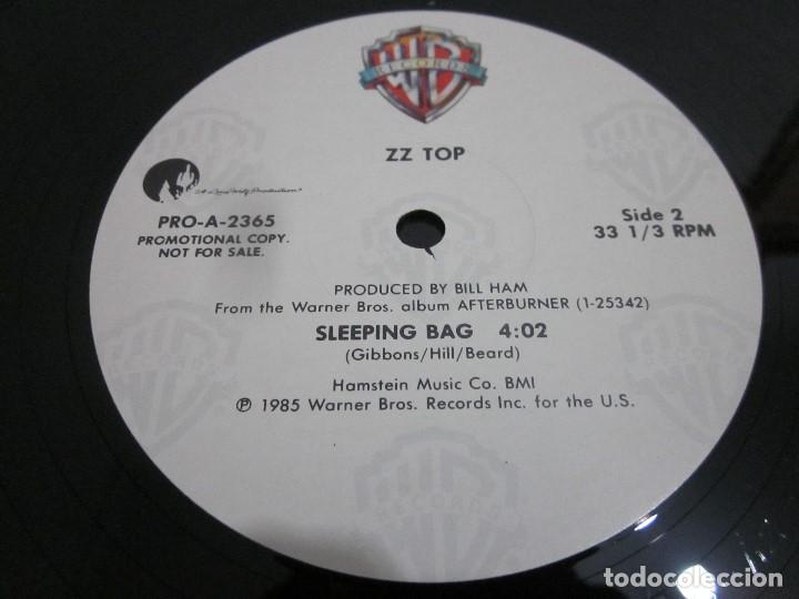 Discos de vinilo: ZZ TOP - SLEEPING BAG - MAXI PROMOCIONAL EDICION USA DEL AÑO 1985. - Foto 4 - 158018382
