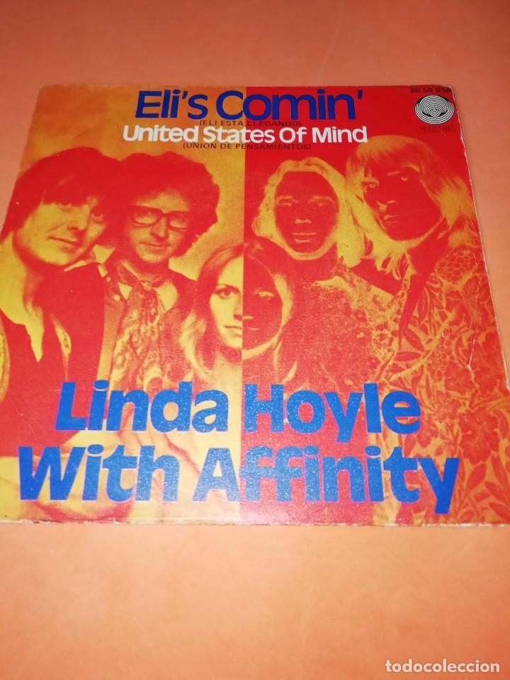 LINDA HOYLE WITH AFFINITY / ELI ESTA LLEGANDO / UNION DE PENSAMIENTOS (SINGLE VERTIGO 1971) RARO. (Música - Discos - Singles Vinilo - Pop - Rock - Extranjero de los 70)