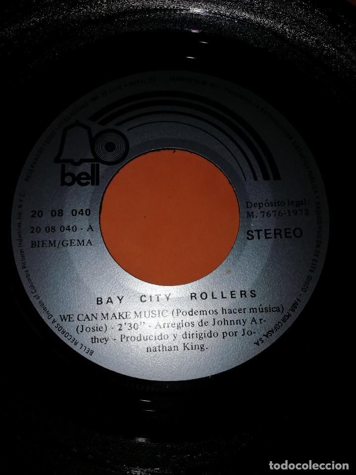 Discos de vinilo: BAY CITY ROLLERS - WE CAN MAKE MUSIC - JENNY - SG SPAIN 1972 - Foto 4 - 158021010