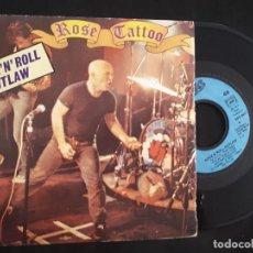 Discos de vinil: SINGLE EP VINILO ROSE TATTOO ROCK 'N' ROLL OUTLAW DE 1981. Lote 158107686