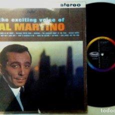 Discos de vinilo: AL MARTINO - THE EXCITING VOICE OF AL MARTINO - LP UK - CAPITOL RECORDS. Lote 158110458