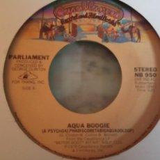 Discos de vinilo: PARLIAMENT AQUA BOOGIE / WATER SIGN FUNK ORIGINAL USA 1978 VG+. Lote 158130914