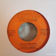 Discos de vinilo: SHIRLEY BROWN WOMAN TO WOMAN / YES SIR BROWN SOUL ORIGINAL USA 1974 VG-. Lote 158132410