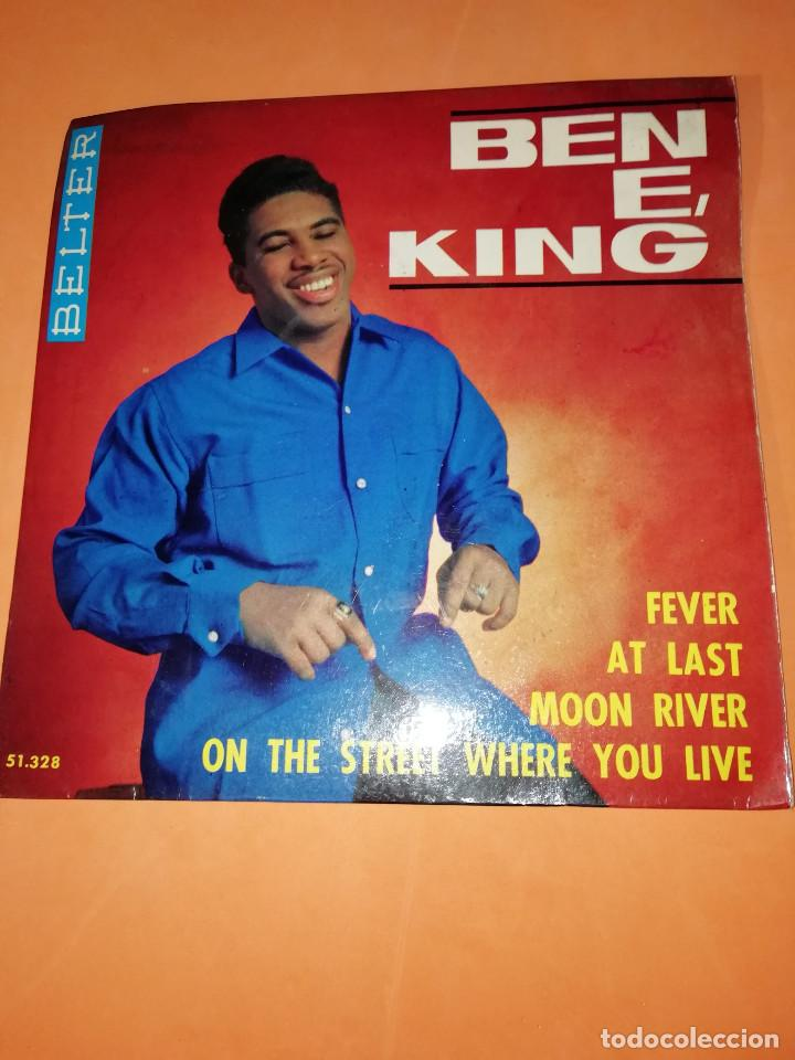 BEN E KING: FEVER + AT LAST + MOON RIVER +1. BELTER 1964 (Música - Discos - Singles Vinilo - Funk, Soul y Black Music)