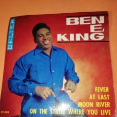 Discos de vinilo: BEN E KING: FEVER + AT LAST + MOON RIVER +1. BELTER 1964. Lote 158146506