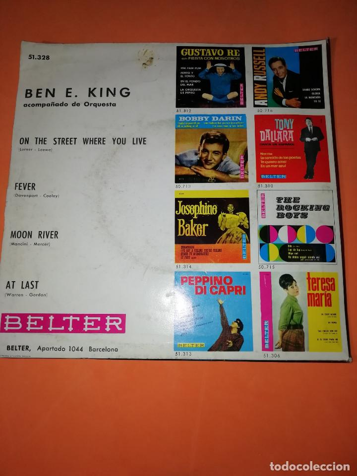 Discos de vinilo: BEN E KING: FEVER + AT LAST + MOON RIVER +1. BELTER 1964 - Foto 2 - 158146506