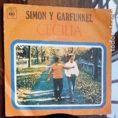 Discos de vinilo: SIMON Y GARFUNKEL, CECILIA Y EL UNICO MUCHACHO QUE VIVE EN NEW YORK. Lote 158147750