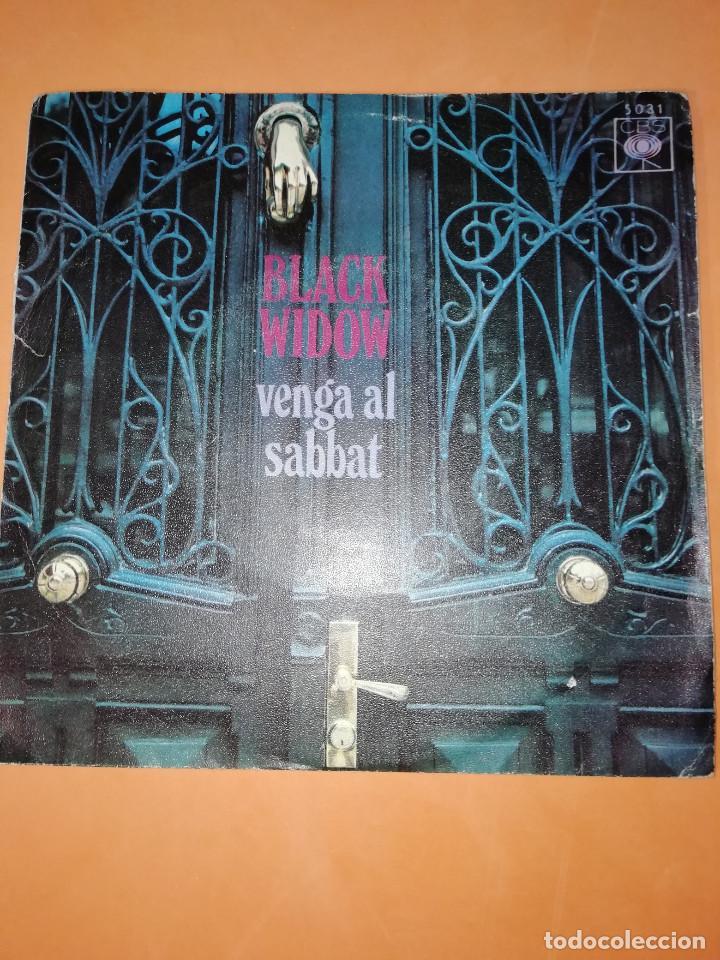 BLACK WIDOW - VENGA AL SABBAT-CAMINO AL PODER .SINGLE EDITADO EN ESPAÑA CBS. 1970. RAREZA (Música - Discos - Singles Vinilo - Pop - Rock - Extranjero de los 70)