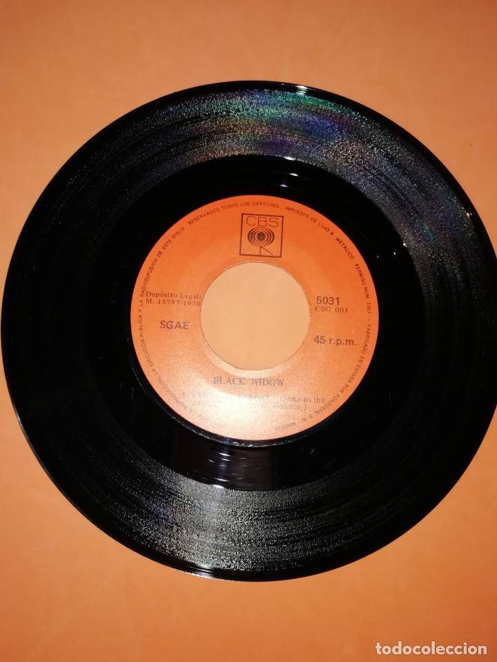 Discos de vinilo: BLACK WIDOW - VENGA AL SABBAT-CAMINO AL PODER .SINGLE EDITADO EN ESPAÑA CBS. 1970. RAREZA - Foto 3 - 158148346
