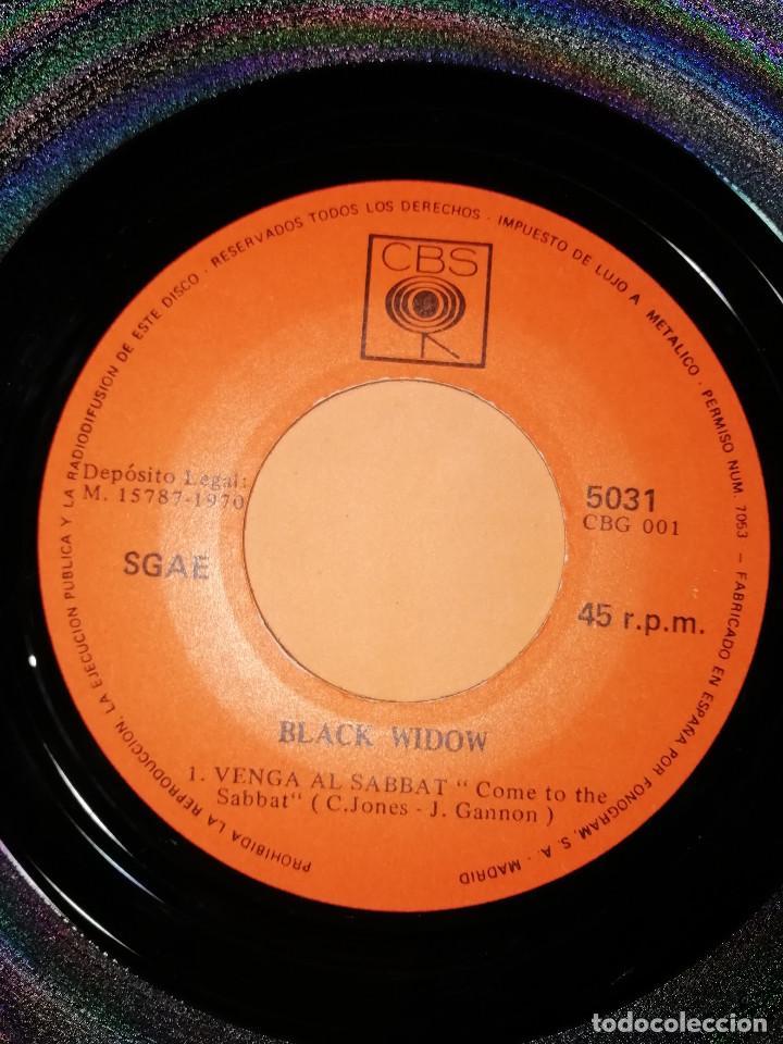 Discos de vinilo: BLACK WIDOW - VENGA AL SABBAT-CAMINO AL PODER .SINGLE EDITADO EN ESPAÑA CBS. 1970. RAREZA - Foto 4 - 158148346