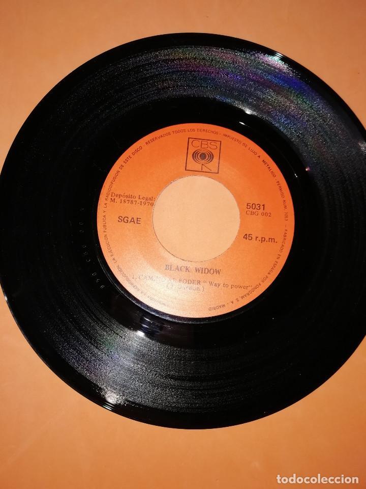 Discos de vinilo: BLACK WIDOW - VENGA AL SABBAT-CAMINO AL PODER .SINGLE EDITADO EN ESPAÑA CBS. 1970. RAREZA - Foto 5 - 158148346