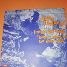 Discos de vinilo: JACKIE EDWARDS / I MUST GO BACK / BABY I WANT TO BE NEAR YOU . TROJAN RECORDS 1971. Lote 158150194