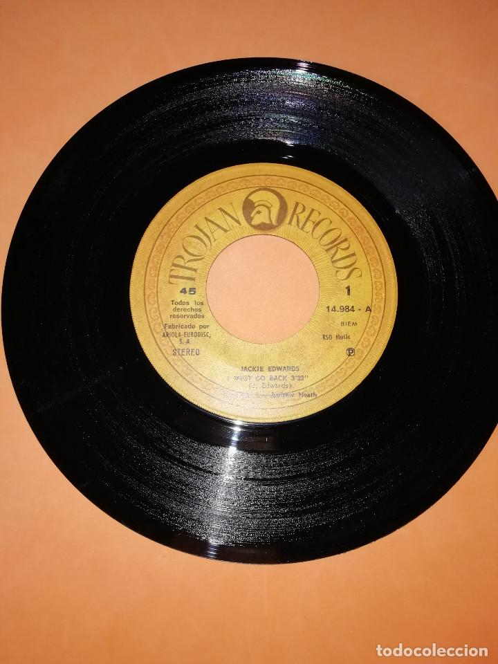 Discos de vinilo: JACKIE EDWARDS / I MUST GO BACK / BABY I WANT TO BE NEAR YOU . TROJAN RECORDS 1971 - Foto 3 - 158150194