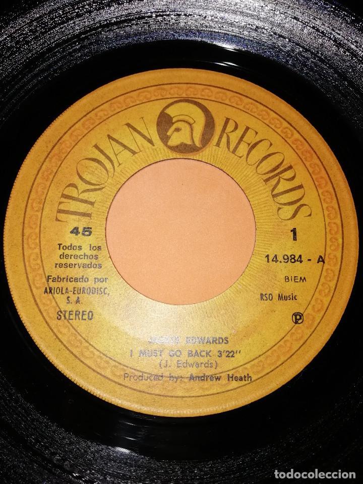 Discos de vinilo: JACKIE EDWARDS / I MUST GO BACK / BABY I WANT TO BE NEAR YOU . TROJAN RECORDS 1971 - Foto 4 - 158150194