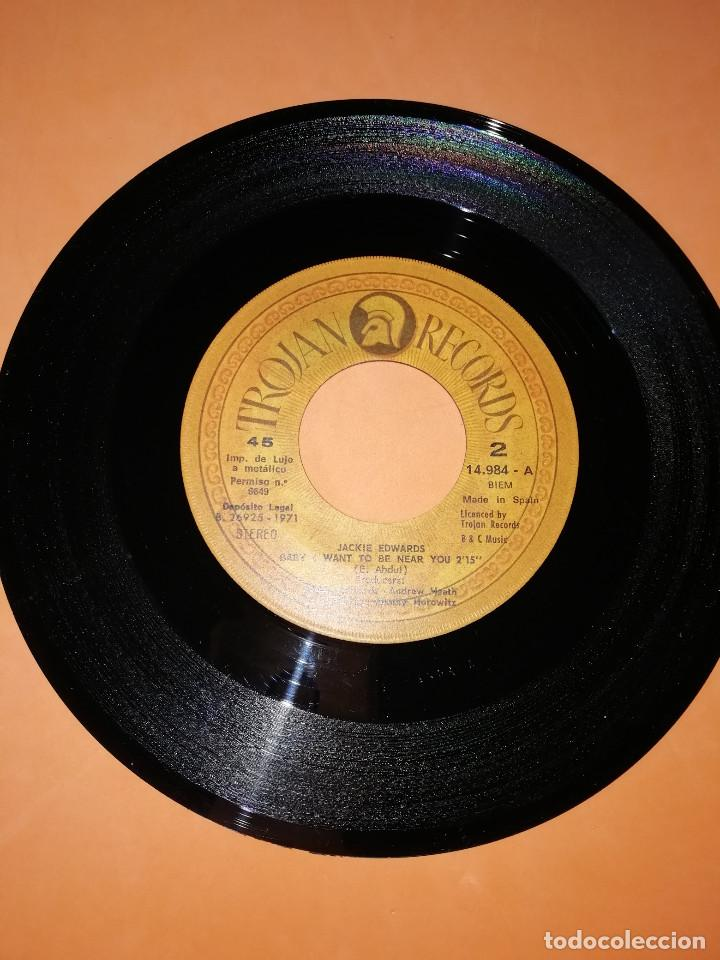 Discos de vinilo: JACKIE EDWARDS / I MUST GO BACK / BABY I WANT TO BE NEAR YOU . TROJAN RECORDS 1971 - Foto 5 - 158150194