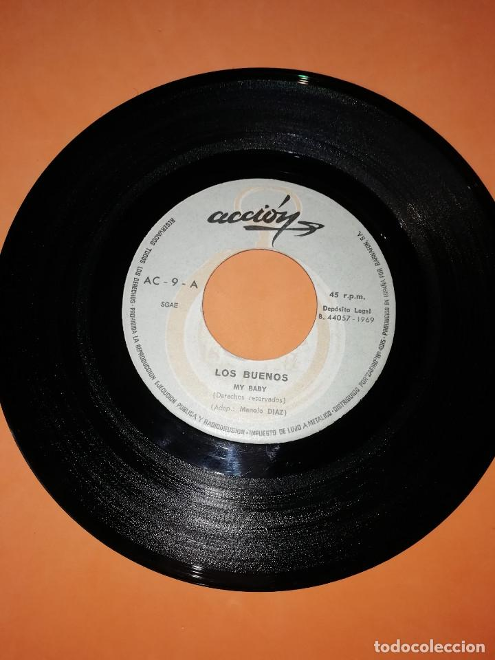 Discos de vinilo: LOS BUENOS / MY BABY / SUMMER TALK ACCION RECORDS 1969 - Foto 3 - 182351055