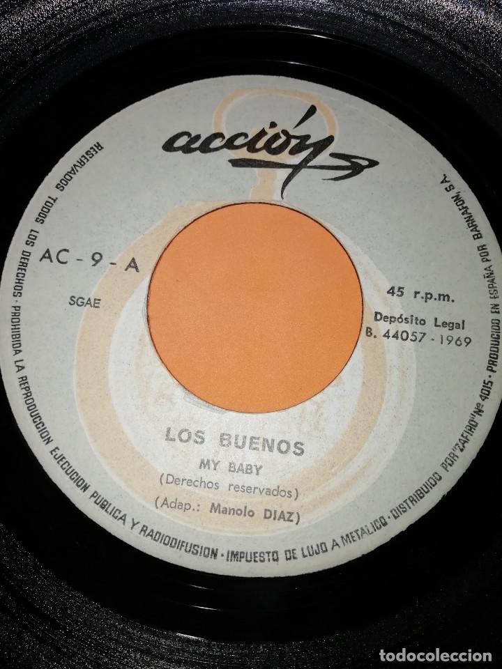 Discos de vinilo: LOS BUENOS / MY BABY / SUMMER TALK ACCION RECORDS 1969 - Foto 4 - 182351055