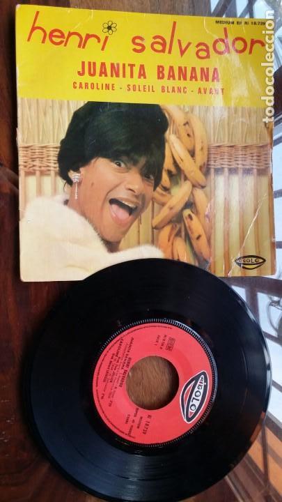 HENRI SALVADOR, JUANITA BANANA, CAROLINE, SOLEIL BLANC, AVANT (Música - Discos - Singles Vinilo - Canción Francesa e Italiana)