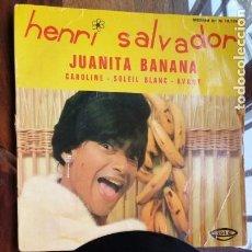 Discos de vinilo: HENRI SALVADOR, JUANITA BANANA, CAROLINE, SOLEIL BLANC, AVANT. Lote 158161546