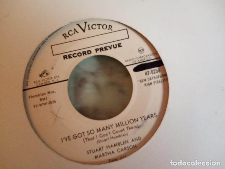 Discos de vinilo: S HAMBLEN & M CARSON LORD I CAN'T COME NOW/IVE GOT SO MANY MILLION YEARS COUNTRY ORIG. USA 1955 NM - Foto 2 - 158168878