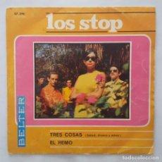 Discos de vinilo: SINGLE / LOS STOP / TRES COSAS (SALUD, DINERO Y AMOR / EL REMO / 1967. Lote 158169562